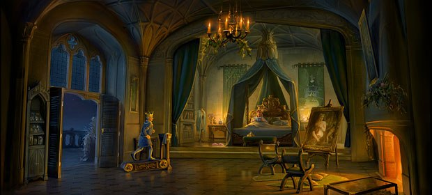 The Royal Couple take time for themselves. Visual development design by Peter Zaslav.