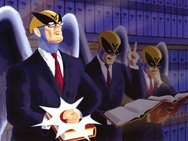 Harvey Birdman is the only decent show on Adult Swim, according to The Pimp. All Harvey Birdman images courtesy of Cartoon Network.