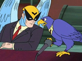 Is Harvey Birdman reminiscent of Phil Mulloyss Ten Commandments and Chris Landreths Ryan?