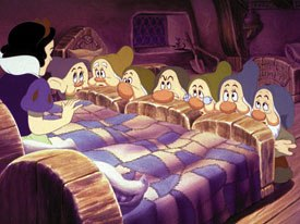 Snow White marked an end of an era for Disney as the Nine Old Men reached retirement age. © Disney.