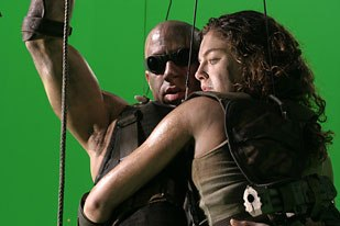 A great deal of compositing work had to be down to transport actors like Vin Diesel and Alexa Davalos into the miniture sets. Photo Credit: Joseph Lederer.