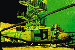 [Figure 18] A scan of an actual helicopter shows how lidar can capture large data sets quickly. Image courtesy of Alan Lasky.