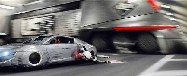 Weta Digital was called in to create the car chase sequence in which Smith is attacked by robots. They completed the complex scenes in just 10 weeks. Photo credit: Weta Digital.