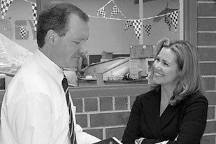 Drs. Aaron Clark (left) and Julie Petlick visit one of VisTes pilot-sites.