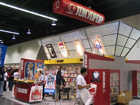 The exhibit hall was packed with the booths of major anime and manga companies.