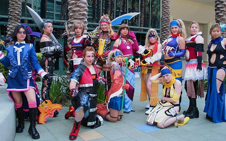 Cosplay was an organized, scheduled affair this year. Fans mobbed the designated cosplay areas where they could pose for photographers.