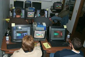 A typical class at Virtual Partners.