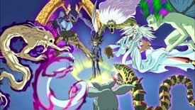 Yu-Gi-Oh! has more than just these monsters to deal with at the box office, opening on the same day as Alien vs. Predator.
