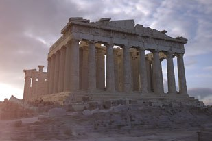 Dr. Paul Debevec exquisitely recreates ancient Greece in his newest film, The Parthenon. © 2004 University of Southern California.