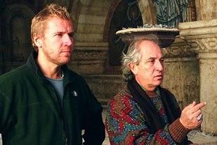 Director Renny Harlin and cinematographer Vittorio Storaro plan their next horrifying shot.