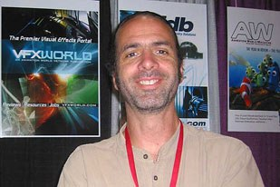 As for celebs at the AWN/VFXWorld booth, Ryan director Chris Landreth stopped by to say hi.