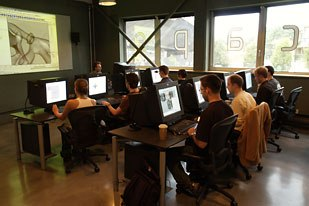 Students at work at Escape Studios. Courtesy of Escape Studios.