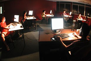 A session in progress at Singapores Intense Animation Studio. Courtesy of Intense Animation Studio.