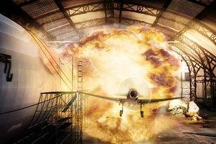 In the end, 14 visual effects companies helped bring the explosive world of Sky Captain to life.