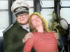 Green Screen Show game with actors Drew Carey and Julie Larson; animation directed by Acme Filmworks Scott Ingalls.