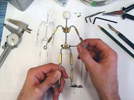 Finishing wire armature.