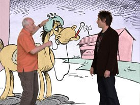 Eric Goldberg recreates the rubber-hose feel of old-time cartoons with his ink-on-paper animation for Racetrack.
