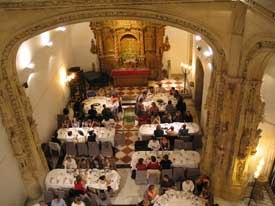 The peripatetic Cartoon Forum landed in Santiago de Compostela, Spain, this year. Participants are warmly greeted at the beautifully appointed welcome dinner inside a medieval building. All Forum images © 2004 Cartoon.