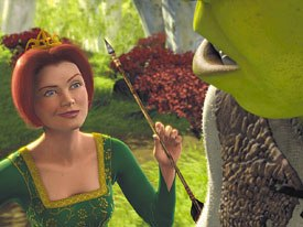 Photorealism gets creepy. An example is Shreks Princess Fiona. Courtesy of DreamWorks Pictures.