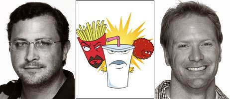 Matt Maierllaro (left) and Dave Willis (right) are the creators of the undisputed breakout hit Aqua Teen Hunger. Courtesy of Cartoon Network.