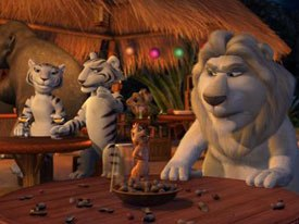 The animation in Father of the Pride, produced by the Hong Kong-based Imagi, is still evolving. © DreamWorks.