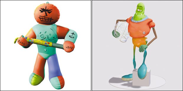 [Figures 73 & 74] Phil McNallys Vic Vinyl (left) from Pump Action and Francois DeBues Goffer (right) from Sahari.