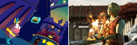The producers of Pinatas (left) and Delgo took the self-financing route instead of shopping to the studios. © H2V Entertainment (left) and © Electric Eye Entertainment 2004. All rights reserved.