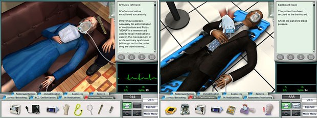 ACLS Interactive developed a training game for paramedics to practice Advanced Cardiovascular Life Support skills. © 2004 Legacy Interactive. All rights reserved. Legacy Interactive is a trademark of Legacy Interactive Inc.