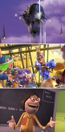 Shrek has spawned a CGI movement in Europe. From top to bottom: Midsummer Dream, P3K: Pinocchio 3000 and Terkel in Trouble. © Dygra Films, 2004; © 2002 Ciné-Groupe Pinocchio 3001; © 2004 Nordisk Films