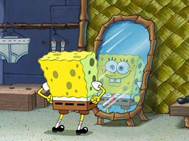 """I'm READY!! I'm READY!! I'm READY!!"": SpongeBob goes from the small screen to the big screen this month. All SBSP images © 2004 Paramount Pictures and Viacom International Inc. All rights reserved."