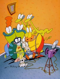 On Rocko's Modern Life, Hillenburg met the core group of the future SBSP creative team: storyboard artists Derek Drymon, Paul Tibbitt, Sherm Cohen and voice actor Tom Kenny. © Nickelodeon.