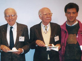 Valerio Oss (right to left) with Ollie Johnston and Frank Thomas. Photo courtesy of Valerio Oss.