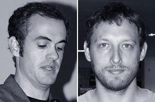 Scott Stokdyk (left) of Imageworks (Spider-Man 2) and Chas Jarrett, visual effects supervisor on Troy.