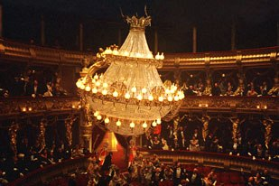 The grand chandelier was a key effect that plays a huge role in the story.