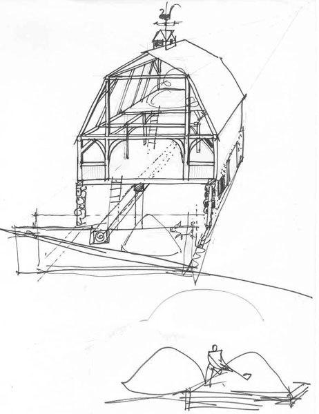 Mirko Hanák's American barn study.