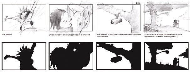[Figure 12] Silhouette drawings are helpful for examining overall composition issues, such as balance and negative space.