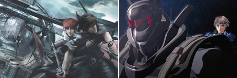 The recent releases of features Sky Blue (left) and Appleseed should excite anime fans. All Sky Blue images © Maxmedia; all Appleseed images distributed by Geneon Ent. (USA) Inc.