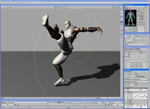 MotionBuilder is a highly specialized character animation tool and offers a very powerful engine and interface for rigging and animating realtime characters, working with motion capture data and animation libraries.