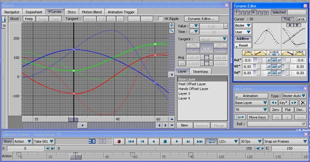 MotionBuilder 6 includes the new Dynamic Editor that lets you modify multiple function curves simultaneously to achieve high-level, dynamic animation editing on multiple objects.