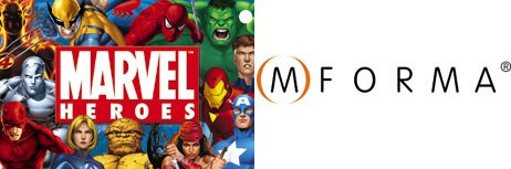 Marvel and MFORMA have joined together to bring Marvels formidable cast of characters to mobile games, mobile comicbooks, graphics, wallpapers, ringtones and voice tones.  & © 2004 Marvel Characters Inc. All rights reserved.