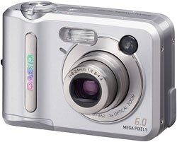 Casios 6-megapixel QV-R62 digicam is quick. It offers a startup time of one second and a shutter release of .01 second.