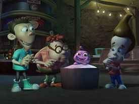 Nickelodeon demonstrated deep convergence with the online game Attack of the Twonkies, based on an episode of the networks series Jimmy Neutron. Courtesy of Nickelodeon.