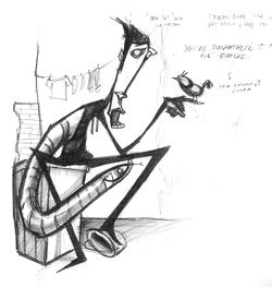 [Figure 6] The concept sketch that inspired my storyline.