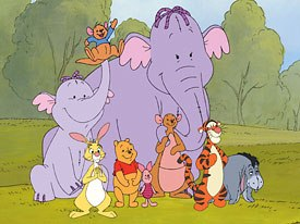 Poohs Heffalump Movie introduces new additions to the Hundred Acre Wood, Lumpy and his mother, Mama Heffalump. All images © 2005 Disney Enterprises Inc. All rights reserved.