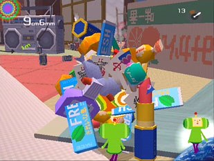 The biggest surprise winner at the Choice Awards was the nonviolent Katamari Damacy, created by the softspoken Keita Takahashi, a sculptor-turned-3D-artist. © 2004 Namco Ltd. All rights reserved.