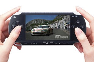 The PSP (PlayStation Portable), about to be released in the U.S., was ubiquitous at the conference. © 2005 Sony Computer Ent. Inc. All rights reserved.
