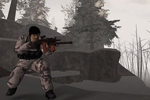 The star of the Serious Games arena was Americas Army. What started out as an advergame to publicize the U.S. Army, has now become wildly popular and is being used for military training. Credit: U.S. Army.