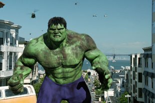The Hulk and scores of other films have been preparing us on the other cartoon side. © 2003 Universal Pictures. All rights reserved. Photo credit: Industrial Light & Magic.