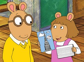 Artisan is co-producing a direct-to-home feature based on the popular PBS childrens character Arthur. All characters and underlying materials (including artwork) © Marc Brown. © 2003 WGBH.
