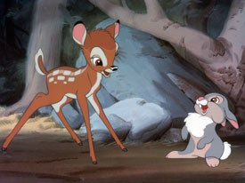 Father/son bonding will be featured in the upcoming DTV sequel, Bambi and the Great Prince of the Forest, to the classic Bambi (above).